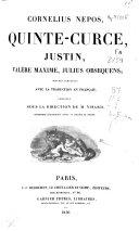 Cornelius Nepos, Quinte-Curce, Justin, Valère Maxime, Julius Obsequens ebook