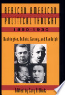 African Amer Pol Thought Book