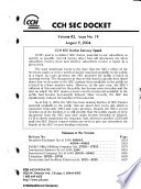 """""""SEC Docket"""" by United States. Securities and Exchange Commission"""