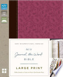 NIV, Journal the Word Bible, Large Print, Imitation Leather, Pink/Brown