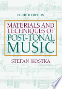 Materials and Techniques of Post Tonal Music Book