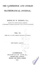 The Cambridge and Dublin Mathematical Journal