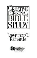 Creative Personal Bible Study
