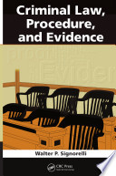 Criminal Law  Procedure  and Evidence Book