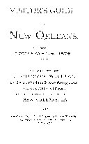 VISITOR S GUIDE TO NEW ORLEANS