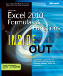 Microsoft Excel 2010 Formulas and Functions Inside Out