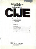 Current Index To Journals In Education Book PDF