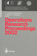 Operations Research Proceedings 2002