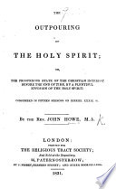 The Outpouring of the Holy Spirit ... Considered in Fifteen Sermons on Ezekiel Xxxix. 29. [With a Preface by J. Evans.]