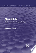 Mental Life  Psychology Revivals