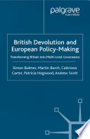 British Devolution and European Policy Making