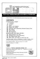 The International Dyer  Textile Printer  Bleacher and Finisher