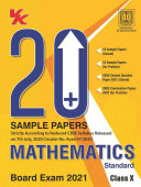 20 Plus CBSE Sample Papers Mathematics  Standard  Class 10  2020 21  Examination