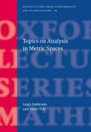 Topics on Analysis in Metric Spaces