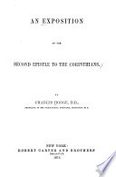An Exposition of the Second Epistle to the Corinthains