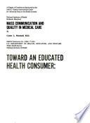 Toward an Educated Health Consumer Book PDF