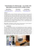 Videotelephonny for Blind People- Case Studies with High Quality Prororype and 3G Mobile Systems] Pdf/ePub eBook