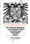 Beati Alphonsi Thostati ... Super Leuiticum i[n] sensu litterali noua et hactenus ...