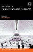 Handbook of Public Transport Research