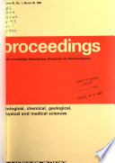 Proceedings of the Royal Netherlands Academy of Arts and Sciences