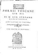 Delle phrasi toscane libri XII.