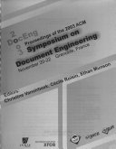 Proceedings of the 2003 ACM Symposium on Document Engineering