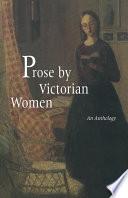 Prose By Victorian Women