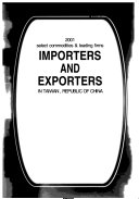 Importers And Exporters In Taiwan Republic Of China