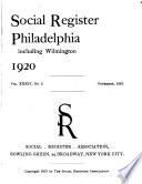 front page of 1920 Social Register