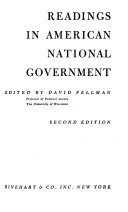 Readings In American National And State Government