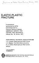 Elastic plastic Fracture