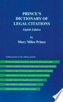 Prince S Dictionary Of Legal Citations 8th Edition