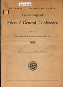 Proceedings of Friends  General Conference