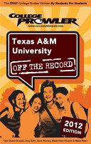 Texas A M University 2012
