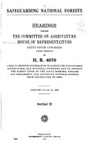 Hearings Before the Committee on Agriculture  House of Representatives  Sixty ninth Congress  First  second  Session