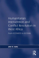 Pdf Humanitarian Intervention and Conflict Resolution in West Africa Telecharger