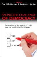 Facing the Challenge of Democracy