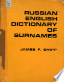 Russian-English Dictionary of Surnames