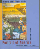 Portrait of America  From the European discovery of America to the end of Reconstruction