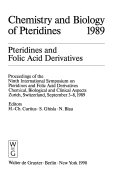 Chemistry and Biology of Pteridines, 1989