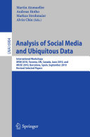 Analysis of Social Media and Ubiquitous Data