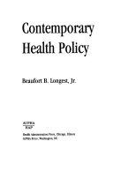 Contemporary Health Policy Book PDF