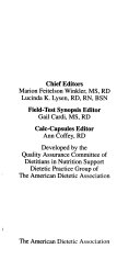 Suggested Guidelines for Nutrition and Metabolic Management of Adult Patients Receiving Nutrition Support