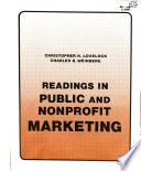 Readings in public and nonprofit marketing