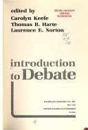Introduction to Debate Book