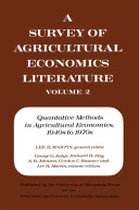 A Survey of Agricultural Economics Literature