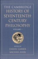 The Cambridge History of Seventeenth-century Philosophy