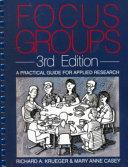 Pdf Focus Groups