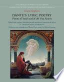 Free Dante's Lyric Poetry Read Online