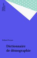 Pdf Dictionnaire de démographie Telecharger